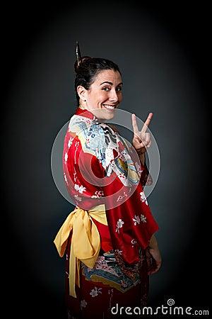Tourist in oriental dress