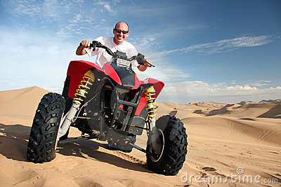 Tourist on a Quad bike