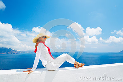 Tourist Relaxing on Vacation