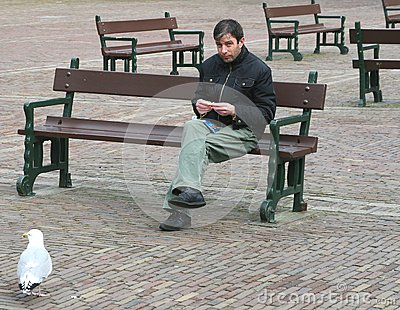Tourist rolls shag cigarette, Binnenhof in The Hague, Netherlands  Editorial Image