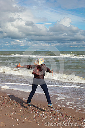 Tourist at sea.