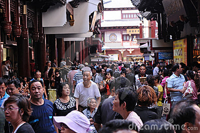 Tourist sites attract huge crowds of people Editorial Photo
