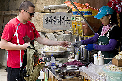Tourist in South Korea Editorial Image