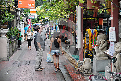 Tourist Street in Bangkok Editorial Stock Image