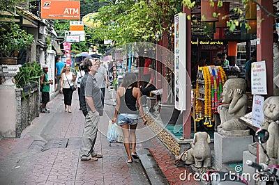 Tourist Street in Bangkok Editorial Stock Image