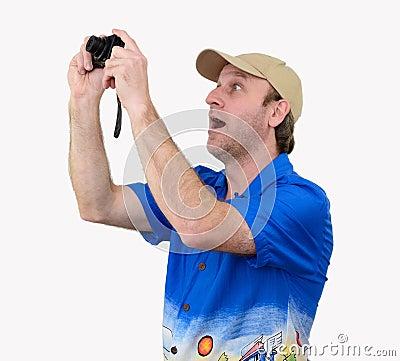 A tourist taking a photograph