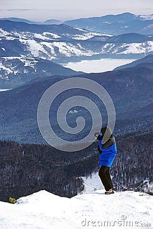 Tourist taking photos