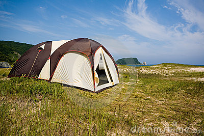 Tourist tent city