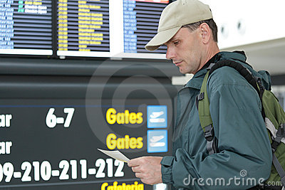 Tourist with tickets
