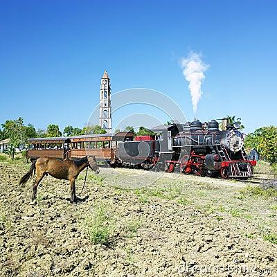 Tourist train in Cuba