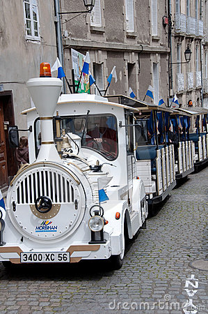 Tourist Trolley Car in Vannes France Editorial Photo