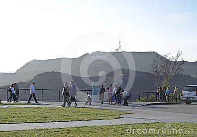 Tourist visiting Griffith observatory Editorial Photo