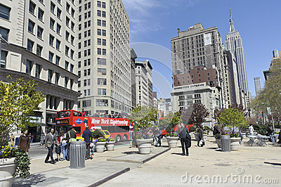 Tourist visiting New york city Editorial Stock Image