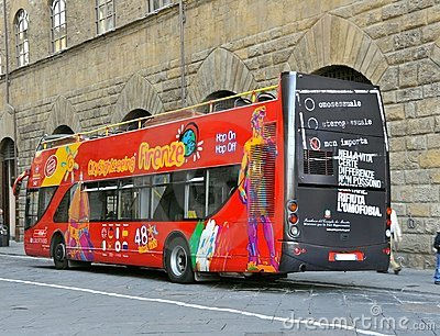 Touristic bus Editorial Stock Image