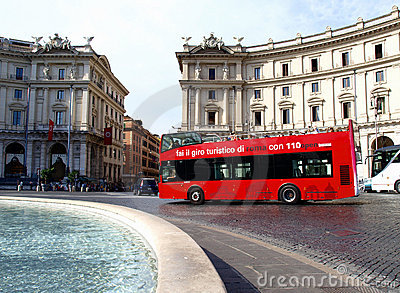 Touristic bus Editorial Photography