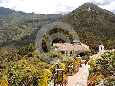 Touristic complex of the church of Monserrate. Editorial Photography