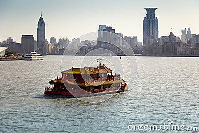 Touristic cruise in Shanghai, China