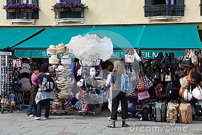 Touristic shop Editorial Stock Photo