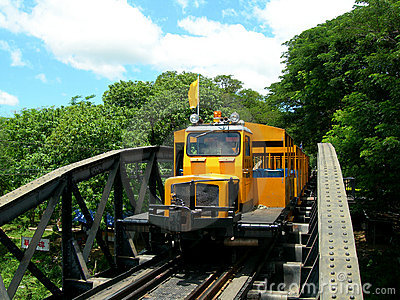 Touristic train on The Bridge on the River Kwai