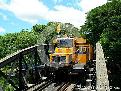 Touristic train on The Bridge on the River Kwai