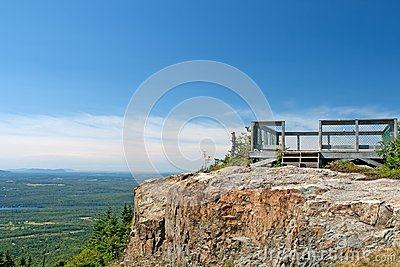 Touristic viewpoint on a cliff
