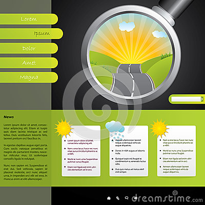 Touristic website design with weather forecast