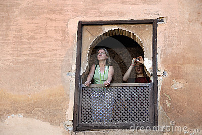 Tourists in the Alhambra,Granada Spain Editorial Image
