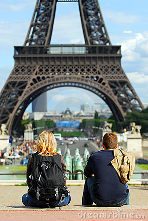 Free Tourists At Eiffel Tower Stock Photos - 2826503