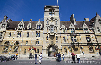 Tourists at Balliol College Oxford Editorial Stock Photo