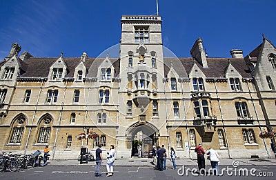 Tourists at Balliol College Oxford Editorial Stock Photo