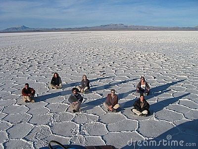 Tourists in the Bolivian desert Editorial Photography