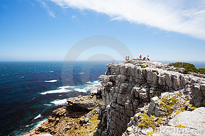 Tourists on cape of good hope