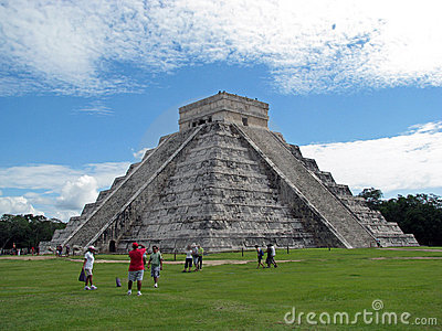Tourists in Chichen Itza (Mexico) Editorial Stock Photo