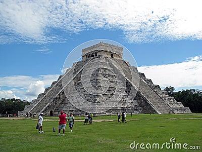 Tourists in Chichen Itza (Mexico) Editorial Stock Photo