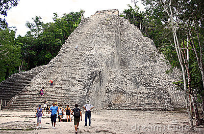 Tourists in Coba (Mexico) Editorial Stock Photo