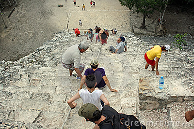 Tourists in Coba (Mexico) Editorial Image