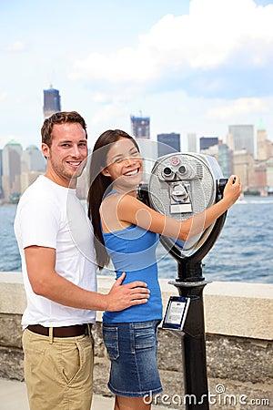 Tourists Couple - Tourism New York, USA