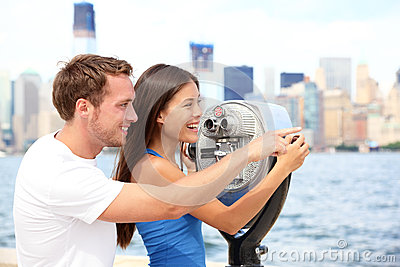 Tourists couple travel in New York