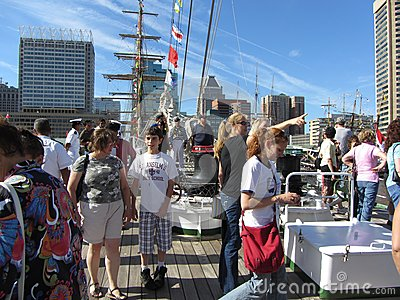 Tourists on the Cuauhtemoc Editorial Stock Photo