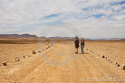Tourists in the desert, Israel
