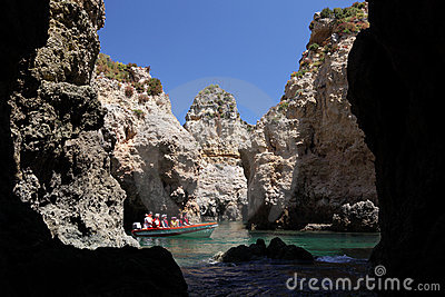 Tourists discovering Algarve, Portugal Editorial Stock Photo