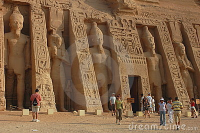 Tourists in Egypt Editorial Stock Photo