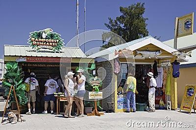 Tourists enjoying Belize City Cruise Port Area Editorial Stock Photo