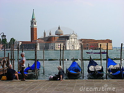 Tourists enjoying a perfect summer day at Venice Editorial Image