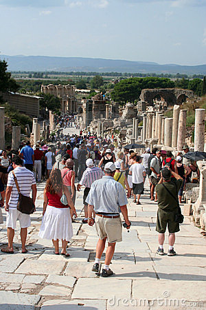 Tourists in ephesus Editorial Photography
