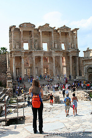 Tourists in ephesus Editorial Photo