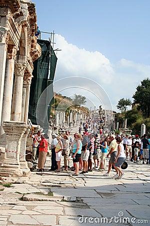 Tourists in ephesus Editorial Photo