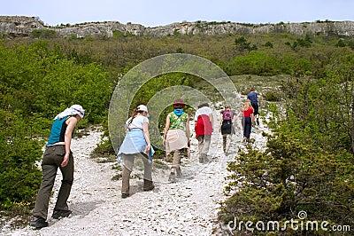 Tourists on excursion