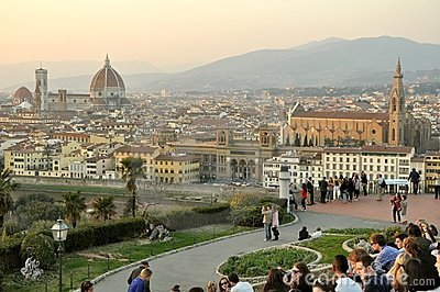 Tourists in Florence, Italy Editorial Stock Image