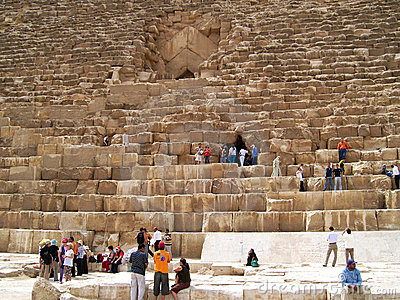 Tourists in Giza Editorial Stock Image